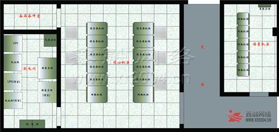 """机房平面设计图,结合""""人体工程学""""理念合理布局"""