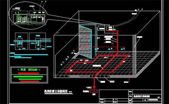 机房手绘平面图