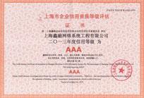 企业信用资质等级评估证书